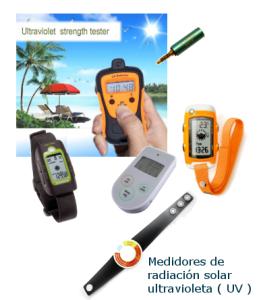 Medidores de radiación solar UV